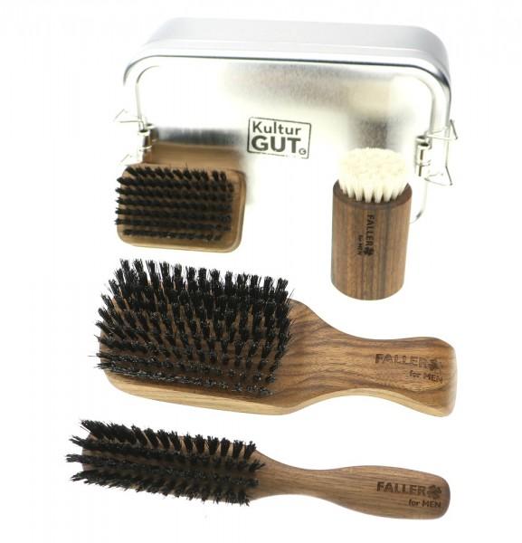 Rough lIne Nussbaum Korpkardätsche   Bartbürste   Gesichtsmassage   Nagel Bürste XL Box.jpg