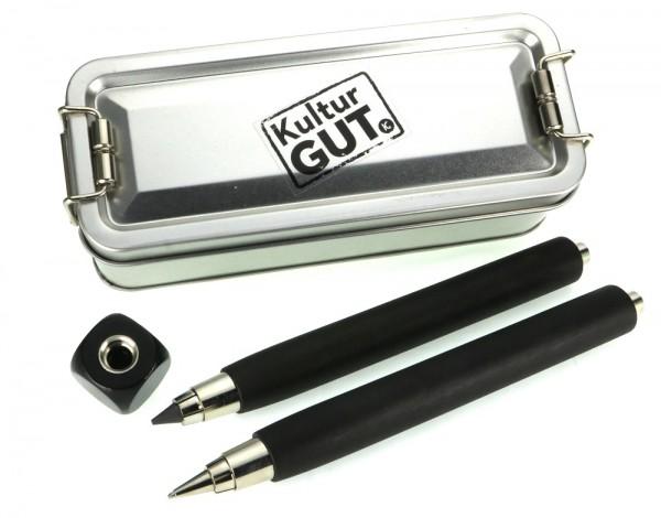 Officebox schwarz Workman Kugelschreiber   Bleistift   Spitzer Cube in Klappbox S.jpg