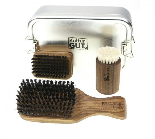 Rough lIne Nussbaum Korpkardätsche   Bartbürste   Gesichtsmassage   XL Box.jpg