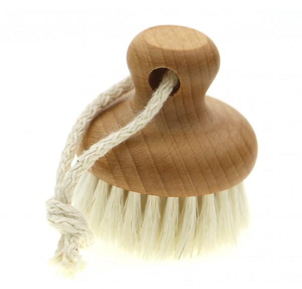 Gesichtsmassage bürste rosshaar weich mähnenhaar buche rund klein.jpg