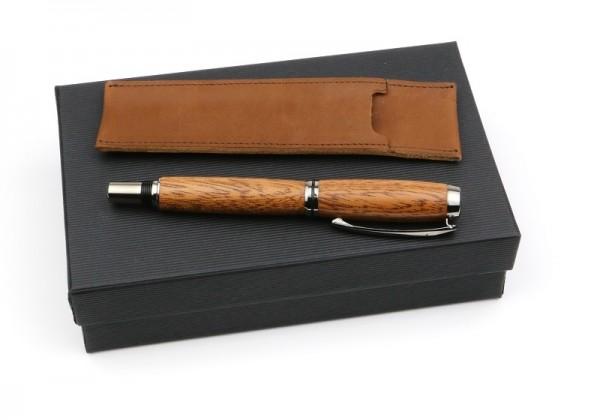 Set Füller Mahagoni im braunen Leder Etui.jpg