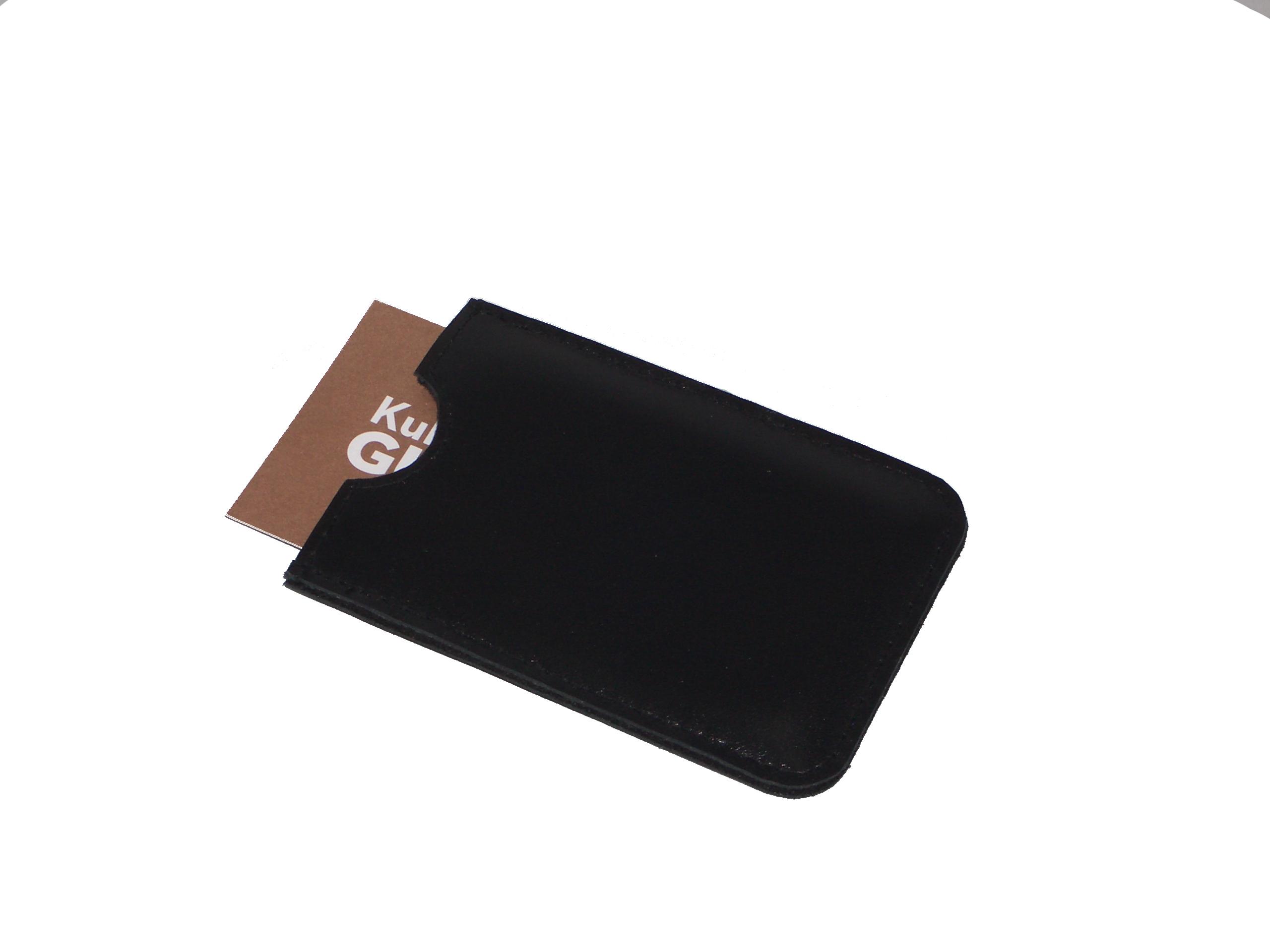 Leather Case For Business Cards Black Black
